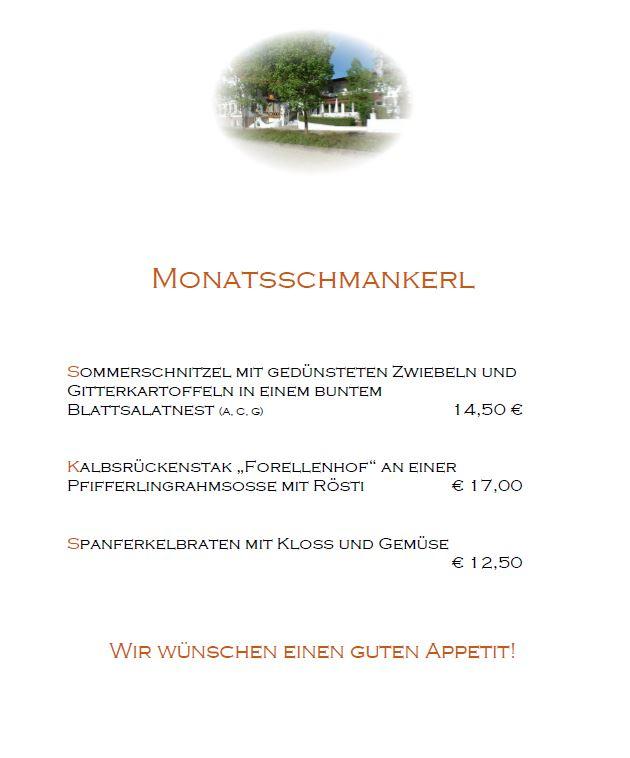 Forellenhof Monatsschmankerl August